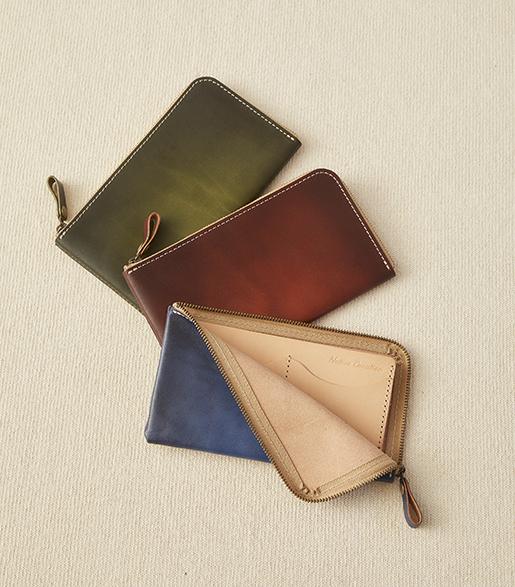 本革L字ファスナー 薄型長財布