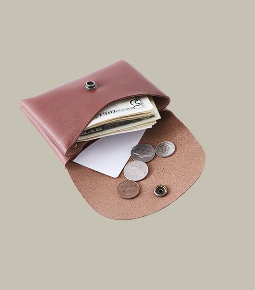 本革コンパクト財布