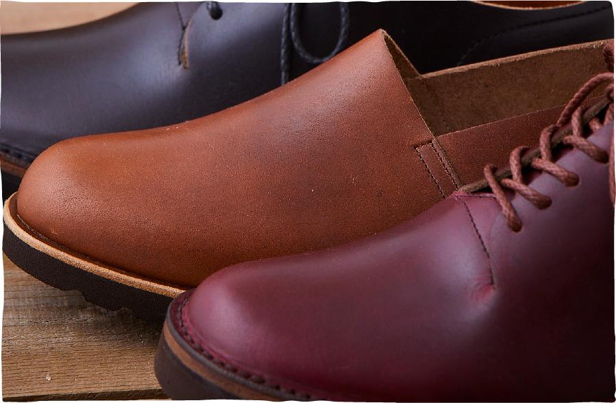 この靴の革との革とお手入れについて